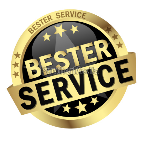 button with text best service
