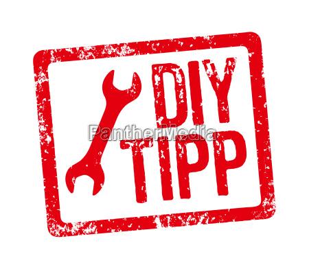 red stamp diy tip