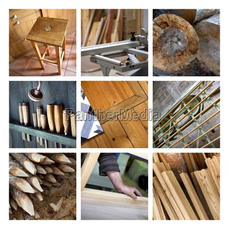 la madera y carpinteria