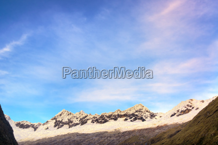 early morning mountain range