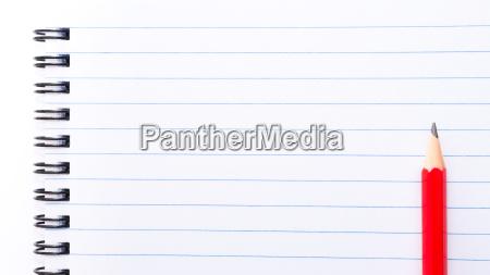 pagina blanca del cuaderno en blanco