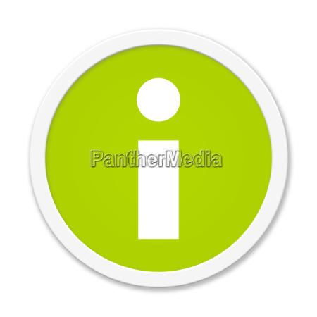 modern green round button info