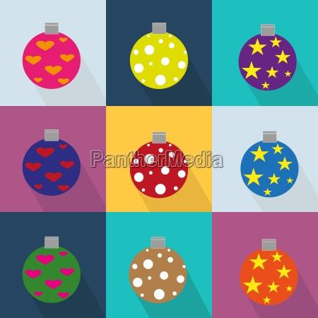 iconos de navidad conjunto decorado con