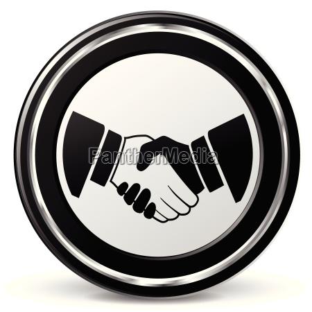 icono de apreton de manos