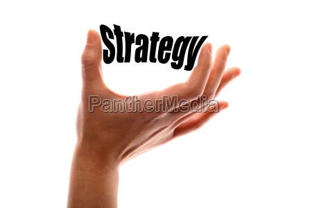 estrategia con exito exitoso dedo de