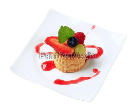 comida dulce liberado concha pastel fruta