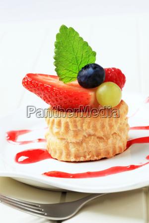relleno de crema pastelera de hojaldre