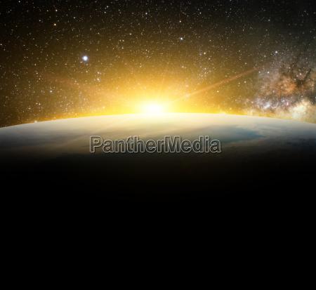 la tierra y la luz del
