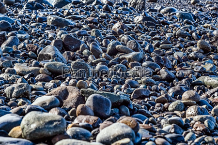 stones on the beach coast