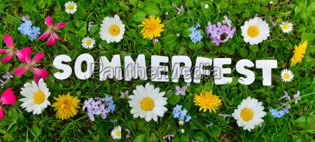texto summerfest la pradera de flores