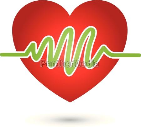logo heartbeat corazon medicina