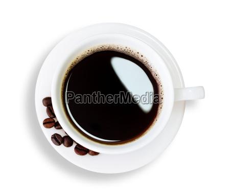 cafe caliente aislado camino de recorte