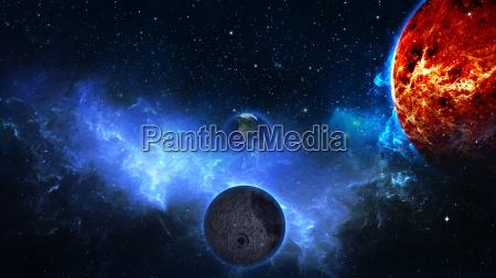 planeta tierra con sol en el