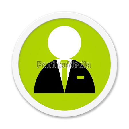 round button shows businessman