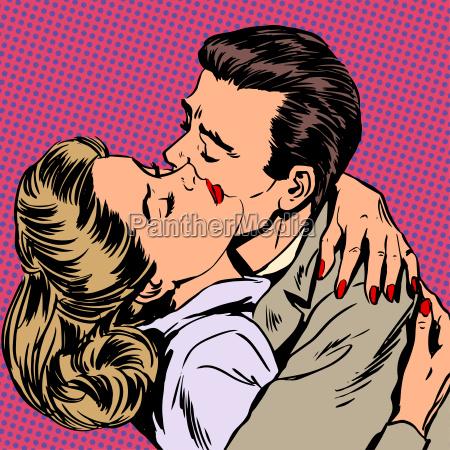 hombre mujer abrazar la pasion del
