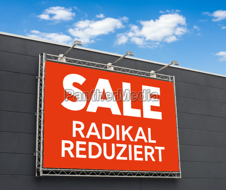 advertising banner with the inscription sale