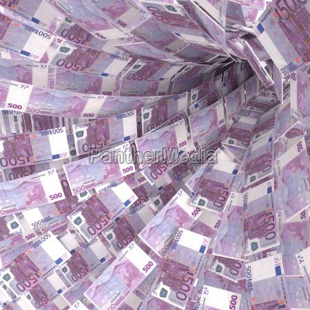 dinero giro de billetes de 500