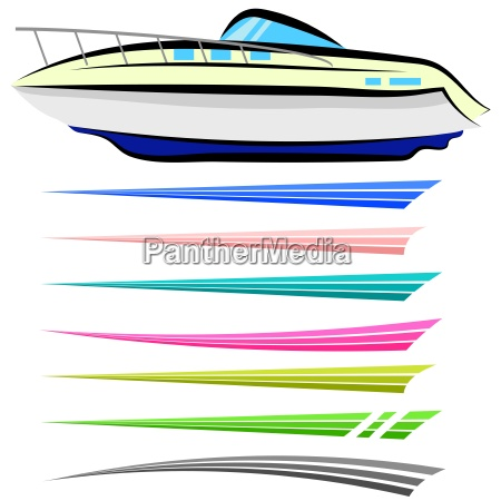 conjunto de graficos nauticos aislados sobre