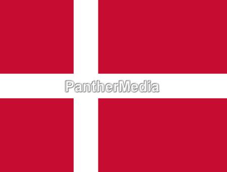 bandera de dinamarca horizontal
