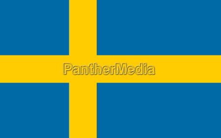 bandera de suecia horizontal
