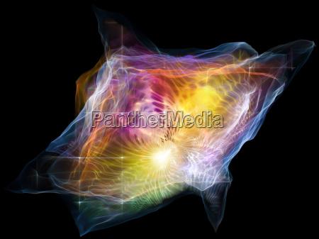 la mente de particulas abstraccion