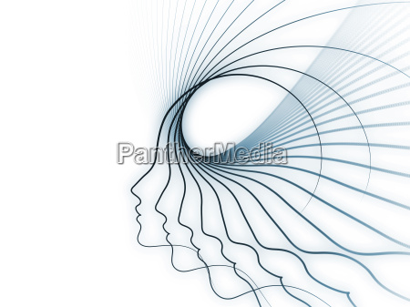 mujer perfil azul arte disenyo grafico