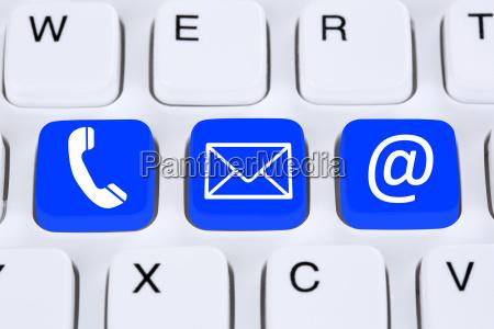 contacto de comunicacion con telefono carta