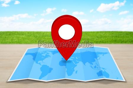 anclar icono de mapa en un