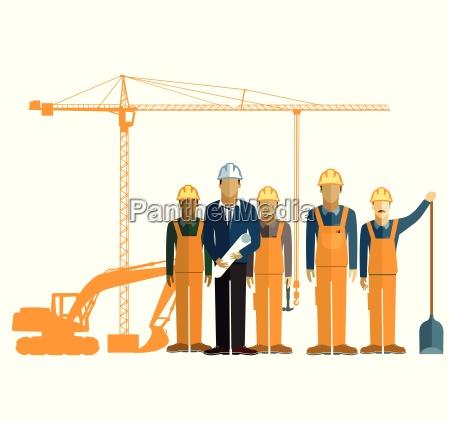 arquitecto y obrero de la construccion