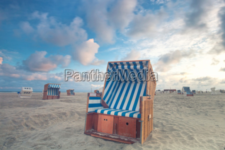 beach chair on the coast