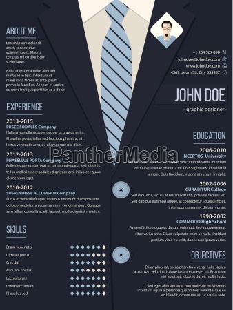 cool resume cv template with business