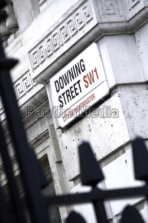la senyal de downing street