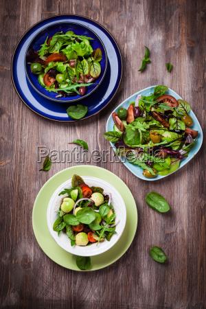 mixed low calorie salads