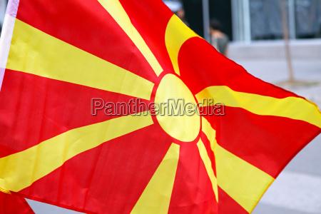bandera de macedonia
