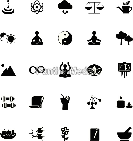 zen concept icons on white background