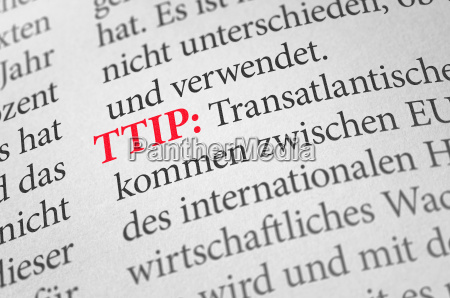 dictionary with the term ttip