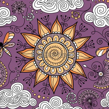 ornamento sumision decorar schnittmuster fondo floral