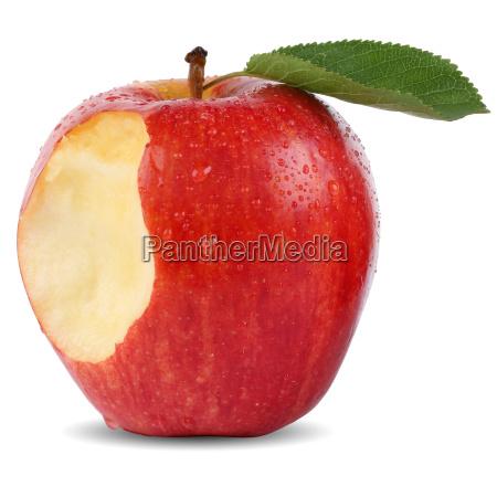 fruta roja de la manzana ofrecida