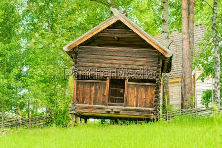 casa construccion arbol madera marron aspero