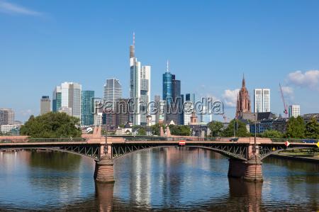 skyline, de, frankfurt, main, hesse, alemania - 14475211