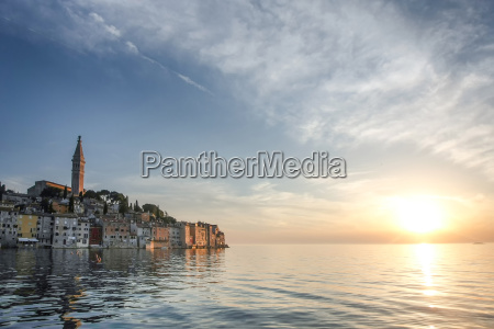 old city core in rovinj at