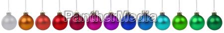 lots of colorful christmas balls christmas