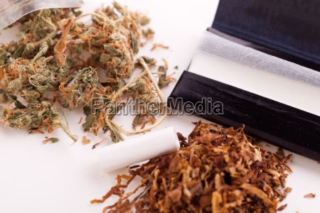 cannabis marihuana con papel y articulacion