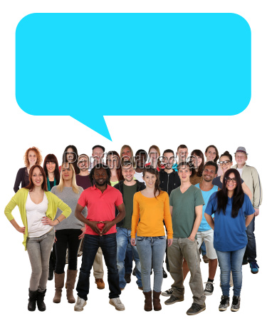multicultural people group young people with