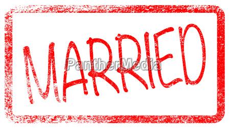 sello rojo casado