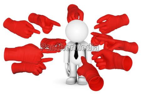 mostrar con el dedo rojo