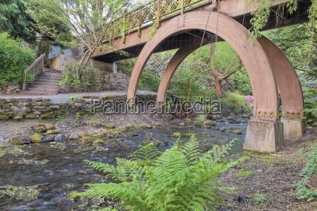wooden foot bridge at crystal springs