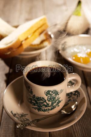 humo fumar cafe vidrio vaso pan