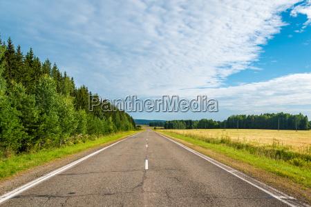 campo transporte carretera rusia chaussee camino