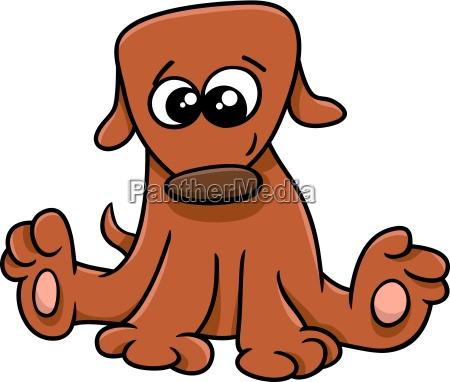 ilustracion de dibujos animados cachorro